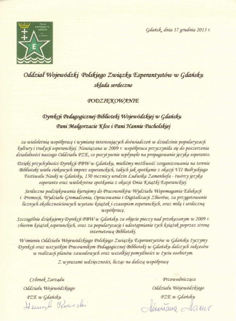 esperanto-podziekowania
